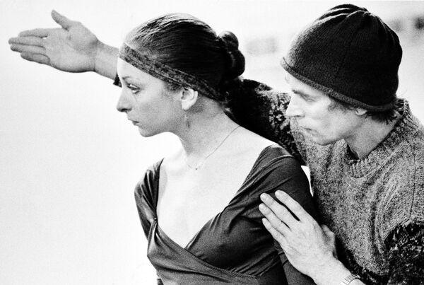 Лоретта Додд и Рудольф Нуриев на репетиции Дон Кихотв Бостоне