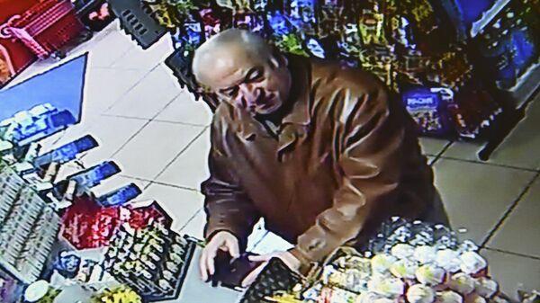 Сергей Скрипаль в супермаркете. 27 февраля 2018