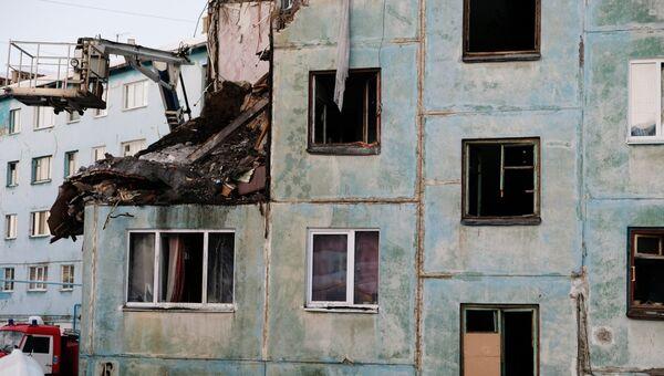 Многоквартирный жилой дом на улице Свердлова в Мурманске, пострадавший от взрыва газа. Архивное фото