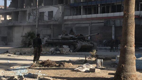 Бронетехника сирийской армии в Восточной Гуте. Архивное фото