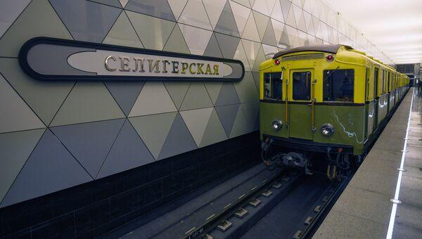 Ретро-поезд. Архивное фото