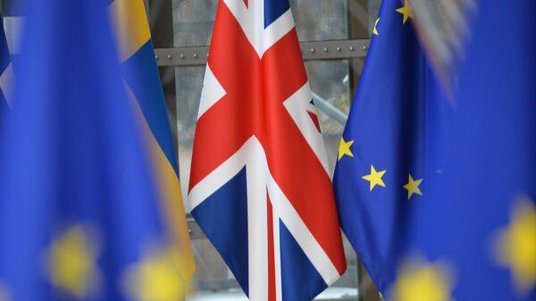 Флаг Великобритании на саммите ЕС