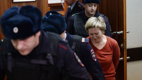 Генеральный директор торгового центра Зимняя вишня Надежда Судденок в Заводском районном суде в Кемерово. 27 марта 2018