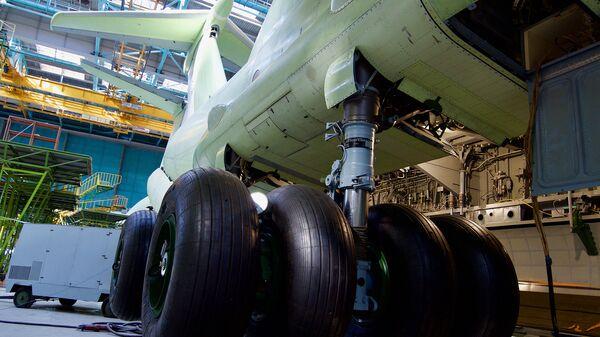 Стойка шасси военно-транспортного самолета Ил-76МД-90А