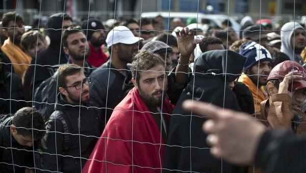Мигранты на границы Австрии. Архивное фото