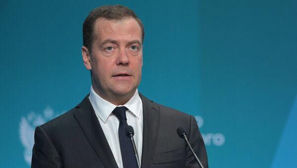 Премьер-министр Дмитрий Медведев принял участие в расширенном заседании коллегии министерства экономического развития РФ. 28 марта 2018