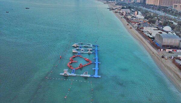 Надувной аквапарк Aqua Fun в Дубае