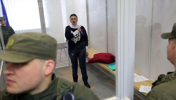 Депутат Верховной рады Украины Надежда Савченко во время заседания апелляционного суда. 29 марта 2018. архивное фото