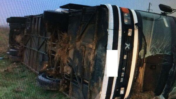 Последствия ДТП с автобусом в Минераловодском районе Ставропольского края. 30 марта 2018