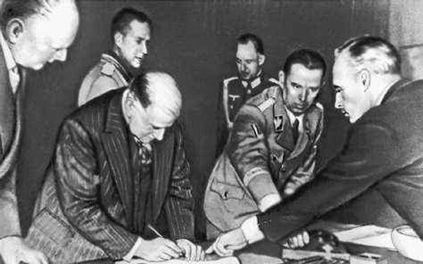 Подписание Мюнхенского соглашения 1938 года