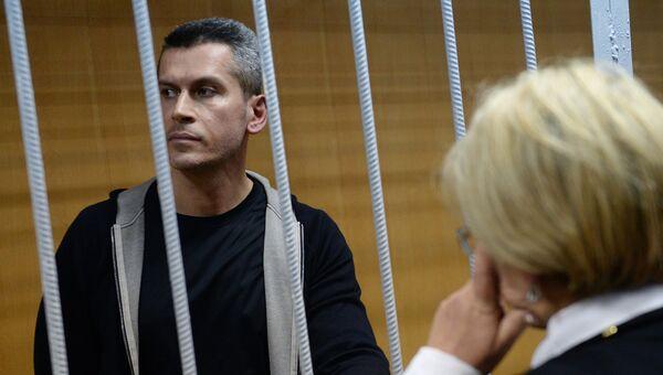 Совладелец и председатель совета директоров группы Сумма Зиявудин Магомедов во время рассмотрения ходатайства следствия о его аресте в Тверском районном суде Москвы. 31 марта 2018