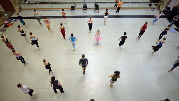 Балетный класс в Новосибирском оперном театре.