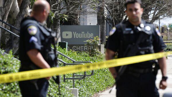 Полиция у здания штаб-квартиры YouTube в Сан-Бруно после стрельбы