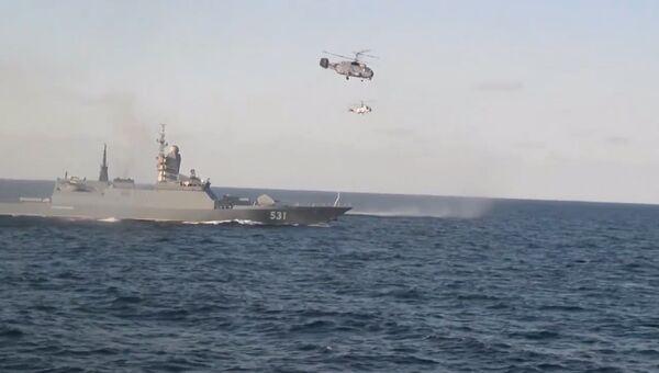 Корветы Балтфлота обстреляли воздушные цели на учениях в Балтийском море