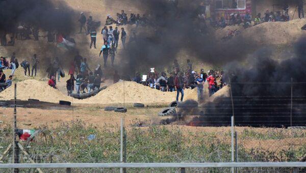 Ситуация при столкновениях на границе сектора Газа. Архивное фото