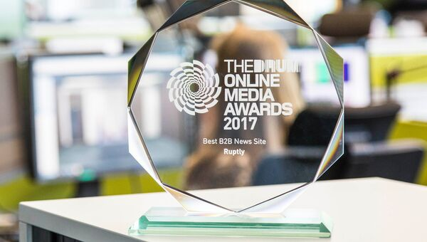 Награда Best B2B News Site в ньюсруме видеоагентства Ruptly