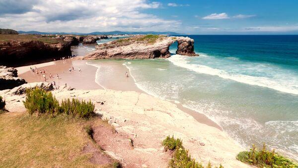 Пляж в Галисии, Испания