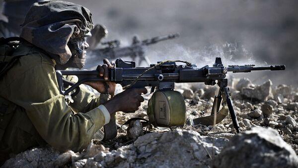 Стрельба из пулемета IWI Negev