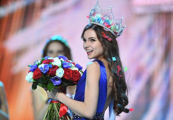 Мисс Россия 2018 Юлия Полячихина на церемонии награждения финалисток конкурса Мисс Россия-2018