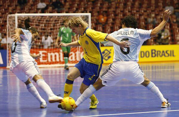 Матч ЧМ по мини-футболу Аргентина - Украина