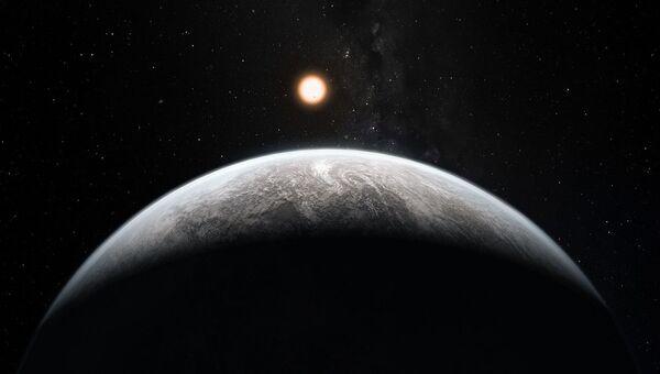 Рисунок экзопланеты HD 85512 b в созвездии Парусов. Архивное фото