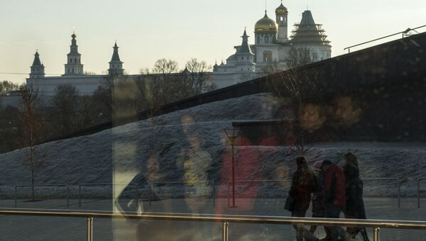 Посетители  музейно-выставочного комплекса Московской области Новый Иерусалим. Архивное фото
