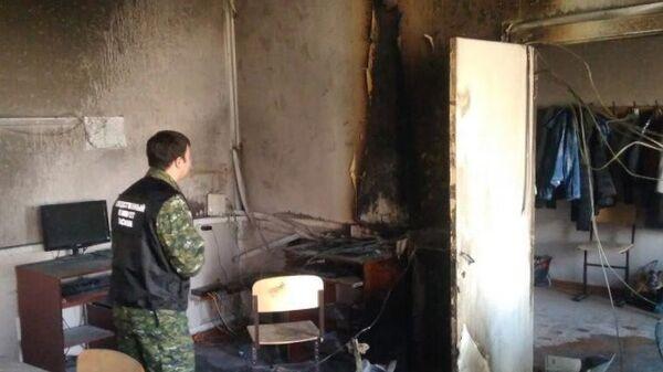 Сотрудники СК на месте пожара в школе №1 Стерлитамака