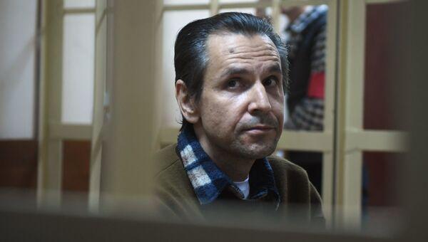 Борис Гриц на заседании по делу о покушении на журналистку Эха Москвы Татьяну Фельгенгауэр в Пресненском суде Москвы. Архивное фото