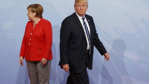 Ангела Меркель и Дональд Трамп. Архивное фото
