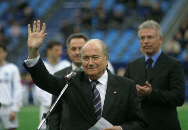 Президент ФИФА Йозеф Блаттер (на переднем плане)