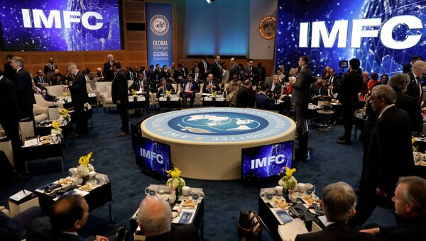 Во время весенней встречи Всемирного банка в Вашингтоне, США. 21 апреля 2018