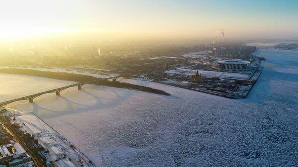 Стрелка Оки и Волги в Нижнем Новгороде