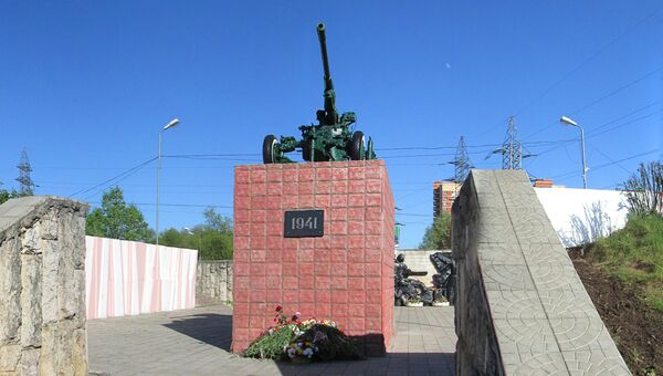 Памятник воинам-зенитчикам в городе Лобня