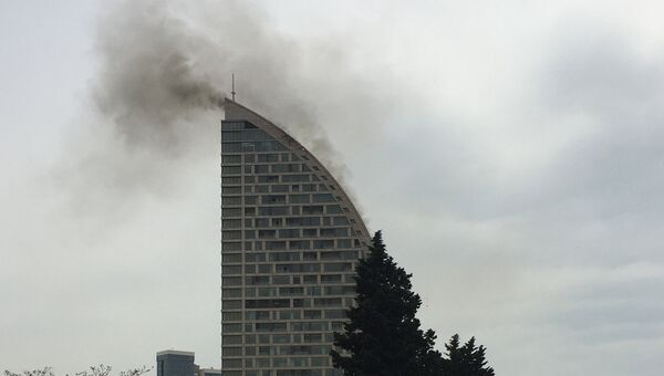 Пожар в высотном здании Trump Tower Baku