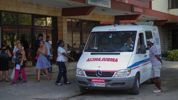 Автомобиль скорой помощи на Кубе. Архивное фото
