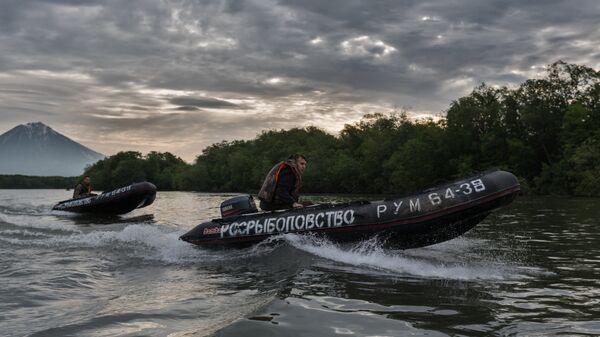 Лодки Росрыболовства в Камчатском крае