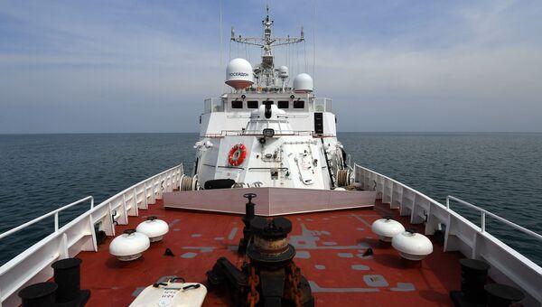 Пограничный сторожевой корабль береговой охраны Пограничной службы ФСБ России. Архивное фото