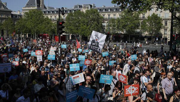 Шествие противников президента Франции Эммануэля Макрона. Архивное фото