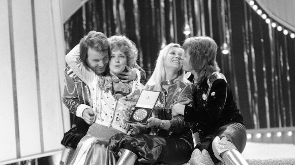 Шведская группа ABBA на конкурсе Евровидение-1974