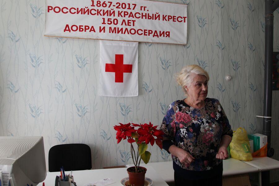Тамара Стефановна Липовая, председатель отделения Российского Красного Креста в Белой Калитве. В 2014 году в отделении РКК  выдавалась гуманитарная помощь, и было организовано питание