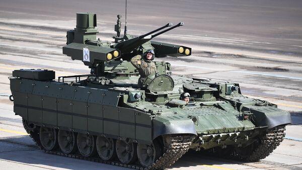 Боевая машина поддержки танков Терминатор. архивное фото