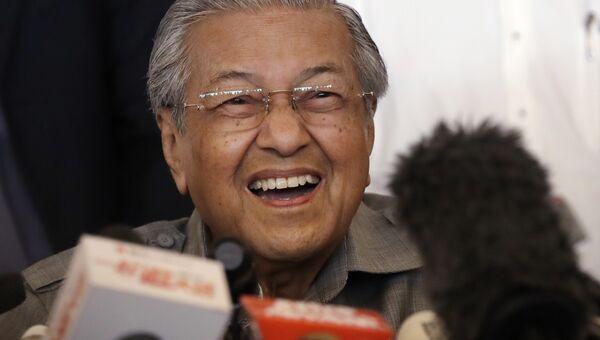 Махатхир Мохамад во время пресс-конференции в Куала-Лумпуре в Малайзии. 10 мая 2018