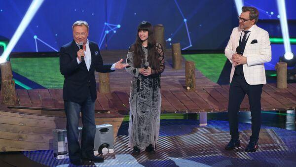 Сергей Шакуров и Диана Анкудинова на конкурсе Ты супер!