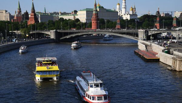 Большой Каменный мост и Московский Кремль