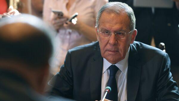 Сергей Лавров во время встречи с министром иностранных дел Египта Самехом Шукри. Архивное фото