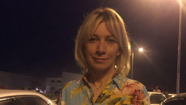 Мария Захарова на открытии транспортного перехода по автодорожной части Крымского моста