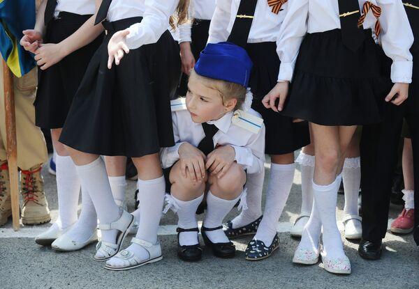 Участники парада «детских войск» в Ростове-на-Дону