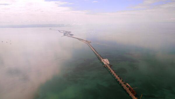 Во всей красе: Крымский мост с высоты птичьего полета в день открытия