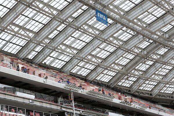 Крыша Большой спортивной арены Лужники в Москве