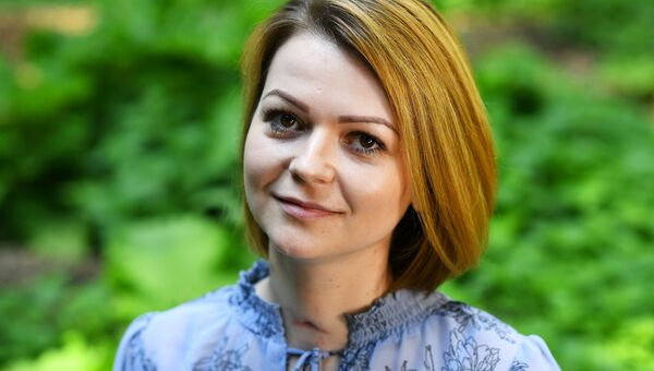 Юлия Скрипаль во время интервью агентству Рейтер в Лондоне, Великобритания. 23 мая 2018